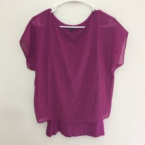 EXPRESS Small Shimmering Purple Top